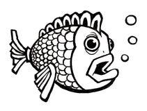 Fischen Sie mit Luftblasen Lizenzfreie Stockbilder