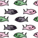 Fischen Sie Muster Stockbild