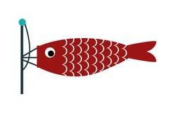 Fischen Sie Wetterfahnewetterhahn-Schattenbildosten, Süden, Westen, Kompass, Zeichenvektor Lizenzfreies Stockbild