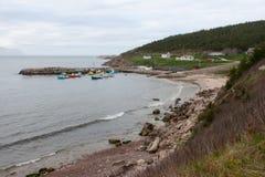 Fischen-Stadt in Nova Scotia Stockfotografie