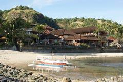 Fischen-Trimaran in Bali, Indonesien stockbilder