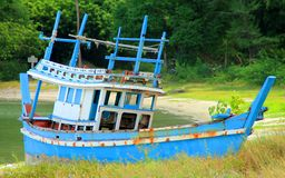 Fischen und Boot Stockfotografie