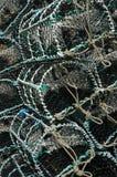 Fischen-Weidenkörbe Stockfotos