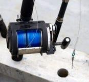 Fischenbandspule Stockfoto