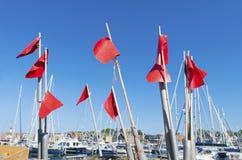 Fischenflaggen Stockfoto