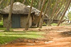 Fischenhütten in Kerala Indien Lizenzfreies Stockbild
