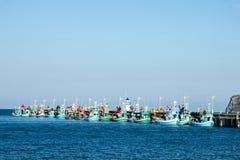 Fischenjachthafen Stockfoto