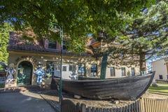 Fischenmuseum in der alten Stadt von Zempin Lizenzfreies Stockfoto