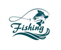 Fischensportemblem lizenzfreie abbildung