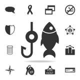Fischensymbolikone Ausführlicher Satz Netzikonen Erstklassiges Qualitätsgrafikdesign Eine der Sammlungsikonen für Website, Netz d vektor abbildung