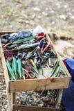 Fischenwerkzeuge lizenzfreie stockbilder