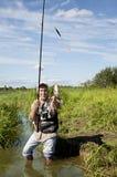 Fischenzeit Stockfoto