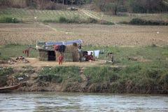 Fischer al fiume di Irrawaddy nel Myanmar fotografia stock libera da diritti