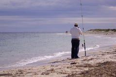 Fischer alleine Lizenzfreie Stockbilder