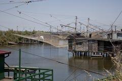 Fischer auf dem Fluss Stockfotografie