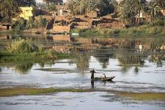 Fischer auf dem Nil-Fluss, Ägypten Lizenzfreie Stockfotografie