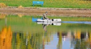 Fischer auf dem See Lizenzfreies Stockbild