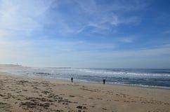 Fischer auf dem Strand stockbild