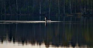 Fischer auf dem Volga stockbild