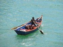Fischer auf dem Yuma Fluss Stockfotos