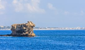 Fischer auf der Insel nahe der Küste Rhodes Island Lizenzfreies Stockbild