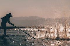 Fischer auf Myanmar stockbild