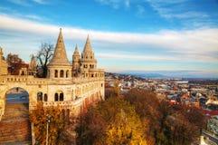 Fischer-Bastion in Budapest, Ungarn Lizenzfreies Stockfoto