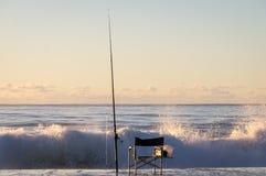 Fischer Charit bei Sonnenaufgang lizenzfreie stockbilder