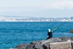 Fischer in der Aktion lizenzfreie stockfotografie