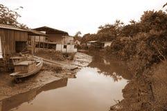 Fischer-Dorf in Amazonas Lizenzfreie Stockfotos