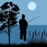 Fischer geht zu fischen Stockfotos