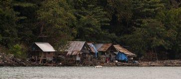 Fischer-Häuschen Andaman-Meer Lizenzfreies Stockfoto