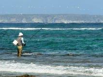 Fischer im karibischen Meer in Guadeloupe Lizenzfreie Stockfotos