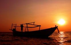 Fischer kommendes HauptSihanoukville Kambodscha Lizenzfreie Stockbilder