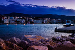 Fischer Pier On The Seaside Town Lizenzfreies Stockfoto