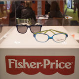 Fischer-Price glasses on display at Mido 2014 in Milan, Italy Stock Photos