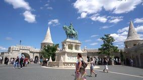 Fischer ` s Bastion in Budapest stock video