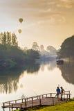 Fischer- und Ballonhintergrund Stockbild