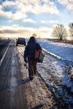 Fischer Winter auf dem See Lizenzfreie Stockfotografie