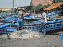Fischer In Yogyakarta, Indonesien Stockfoto