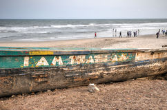 Fischerboot - Accra, Ghana Stockfotos