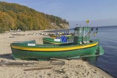 Fischerboot auf dem Meer Lizenzfreies Stockbild