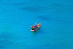 Fischerboot auf dem sea Lizenzfreies Stockfoto