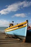 Fischerboot auf Dock Stockfotografie