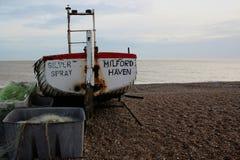 Fischerboot auf Strand Lizenzfreies Stockbild