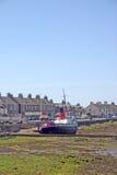 Fischerboot in Ayr Schottland Lizenzfreie Stockbilder