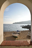 Fischerboot in Costa brava Spanien lizenzfreie stockfotografie