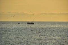 Fischerboot in Costa brava Spanien Stockfotografie