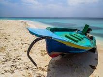 Fischerboot in den Malediven Stockbild