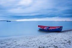 Fischerboot der Weinlese Stockbilder